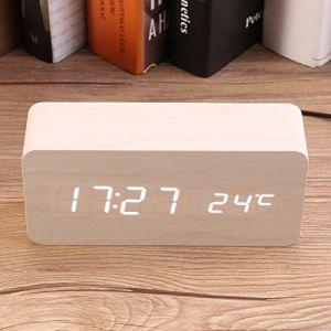 Horloge Digital en Bois Leeron-RV-008