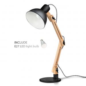 lampe de bureau en bois DL1001B de Tomons